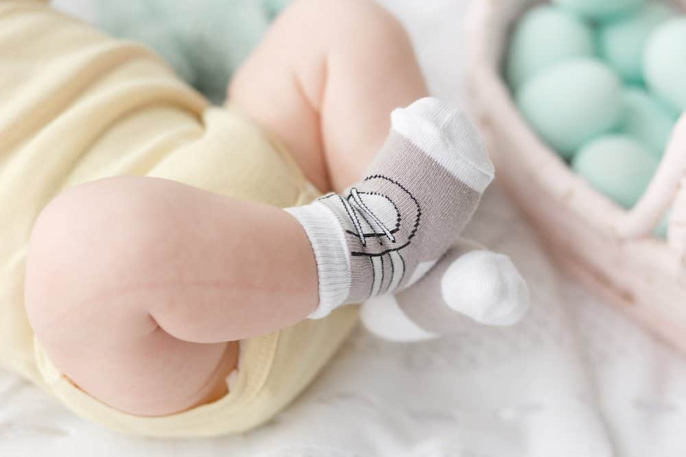 Newborn baby socks with special designs