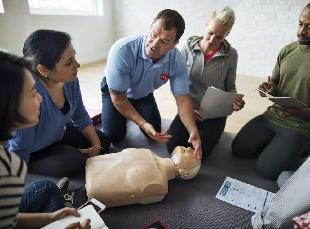 Differences between performing CPR on an infant and on an adult