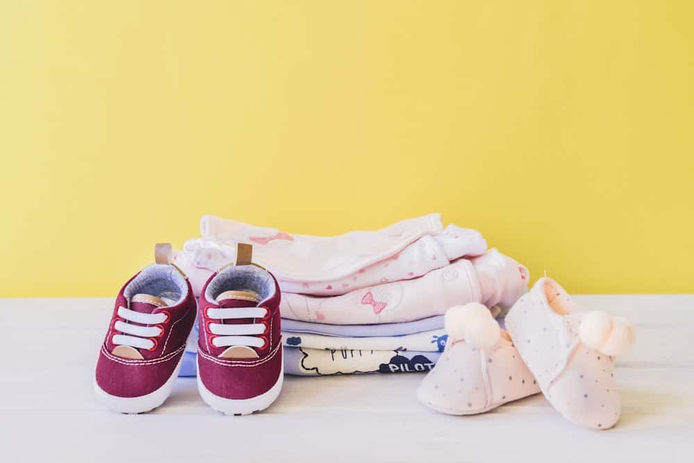 Newborn clothes and shoes