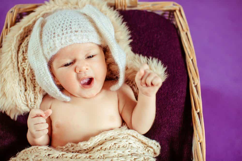 Photoshoot of a newborn