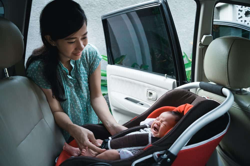 Traveling with a newborn by car