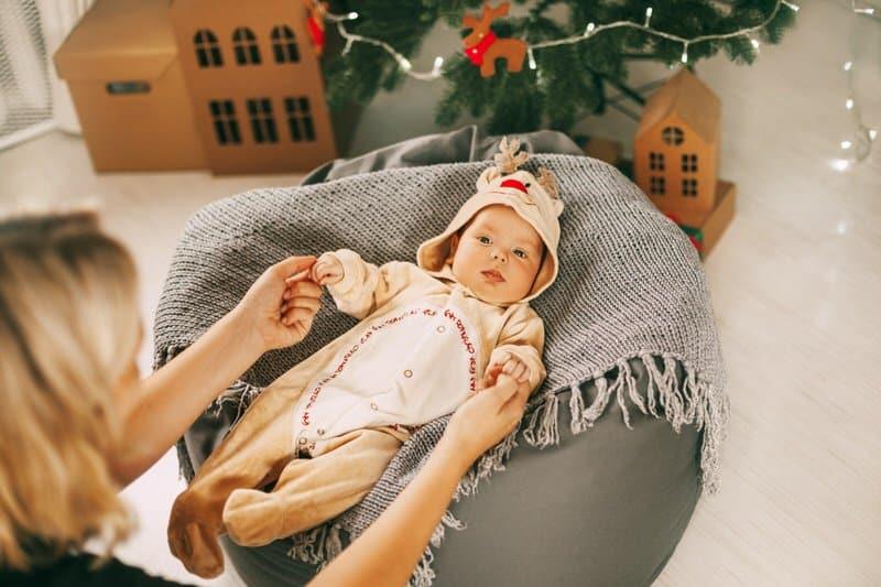 Christmas newborn reindeer outfit