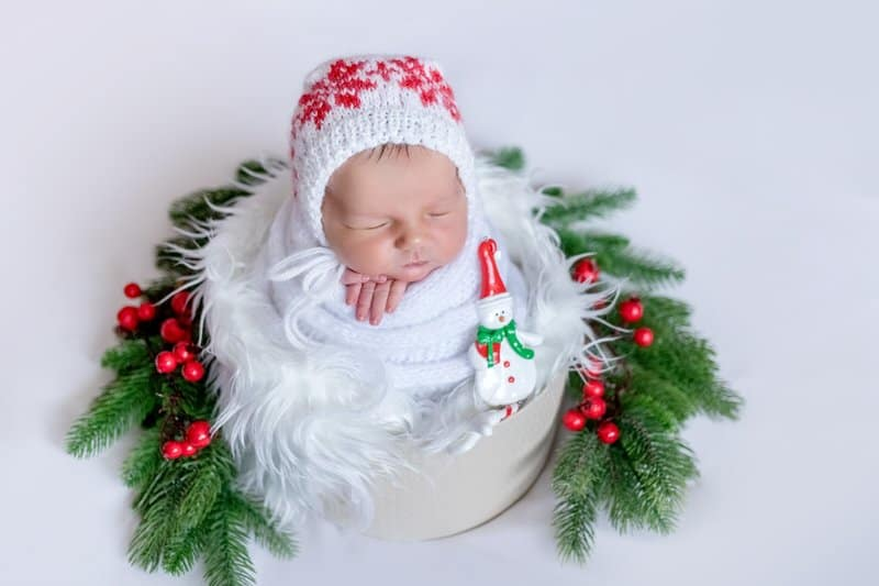 Newborn baby Christmas hat ideas