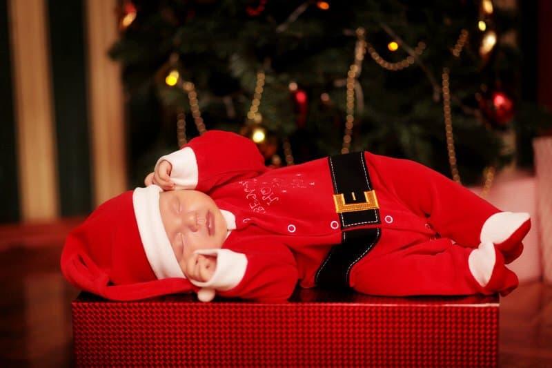 Newborn baby Christmas onesie