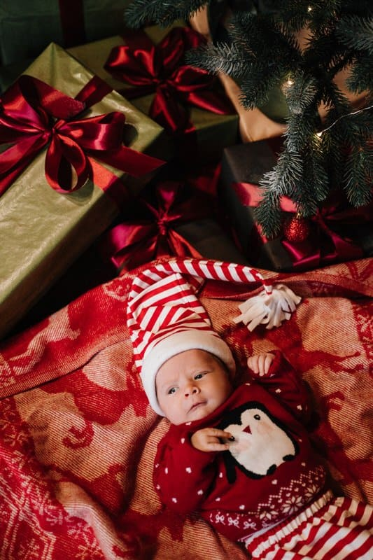Christmas newborn sweater