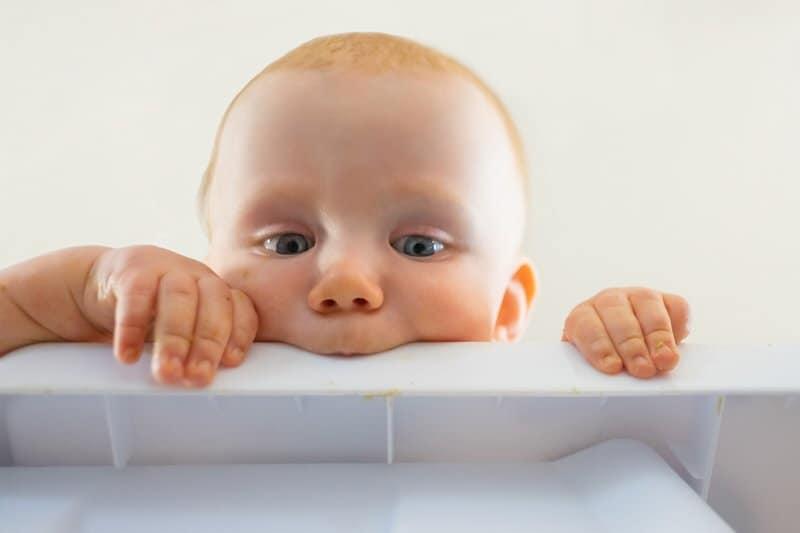Baby chewing reflex