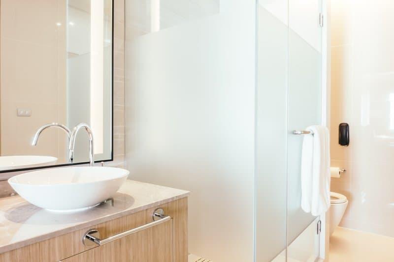 Bathroom space rearrangement