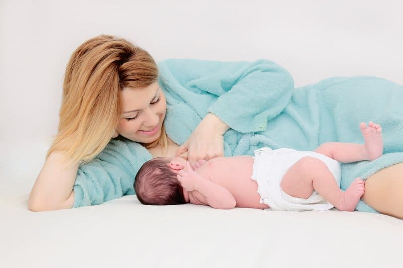 The side-lying breastfeeding position