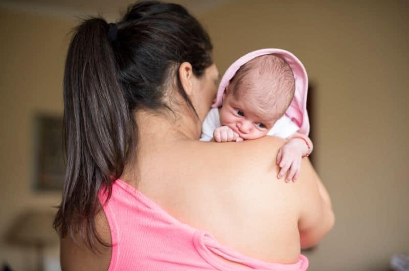 Newborn having tummy problems after breastfeeding
