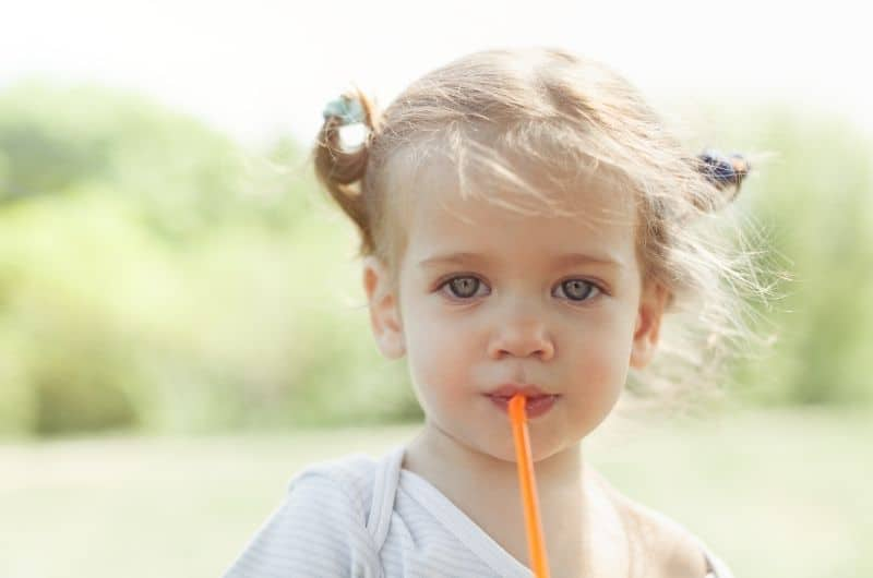 Teaching your baby to drink from a straw