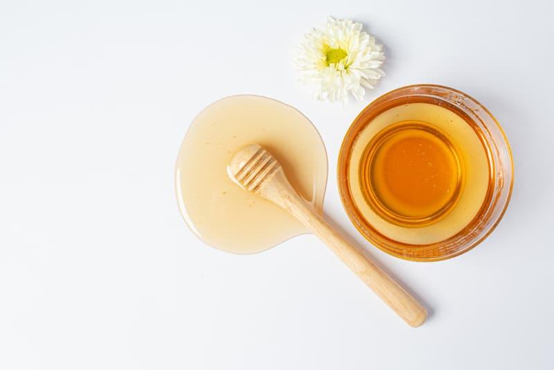 Honey on a table.