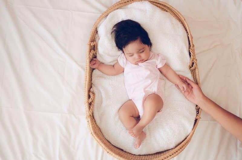Baby Sleeping In Laundry Basket
