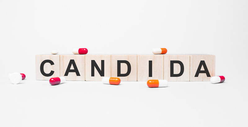 Wooden blocks laid out spelling Candidia